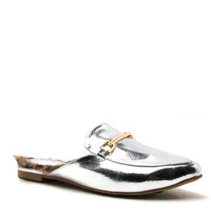 Shoes - Silver Mules